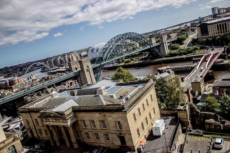 The Swing Bridge over the River Tyne in Newcastle upon Tyne.