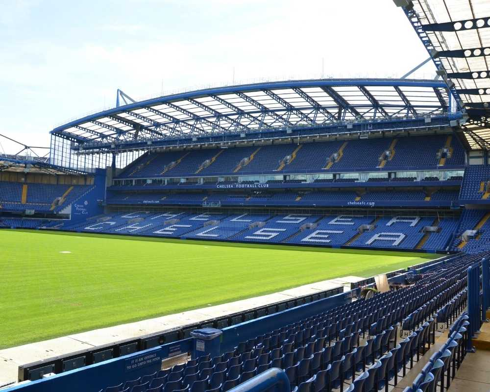 Stamford Bridge interior and stand.