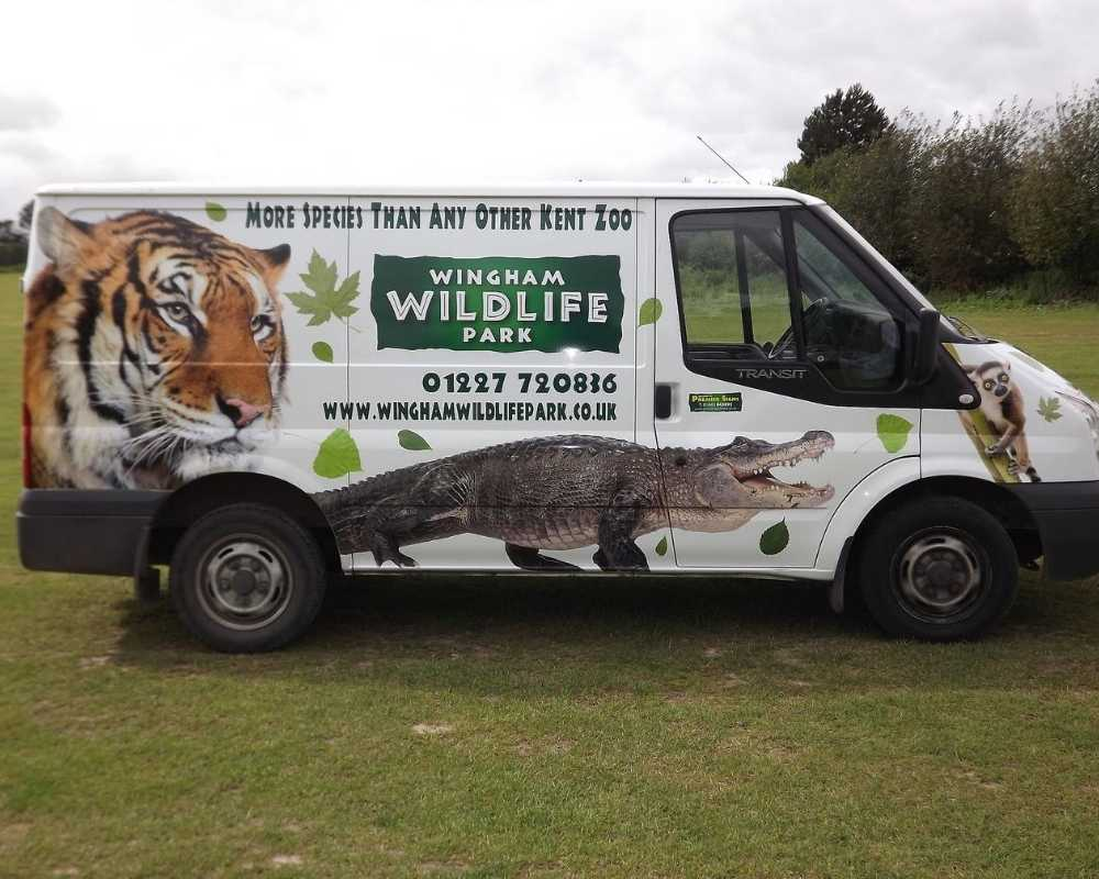 Van at Wingham Wildlife Park.