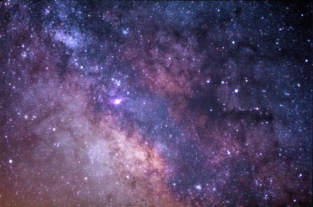 Beautiful starry night sky.