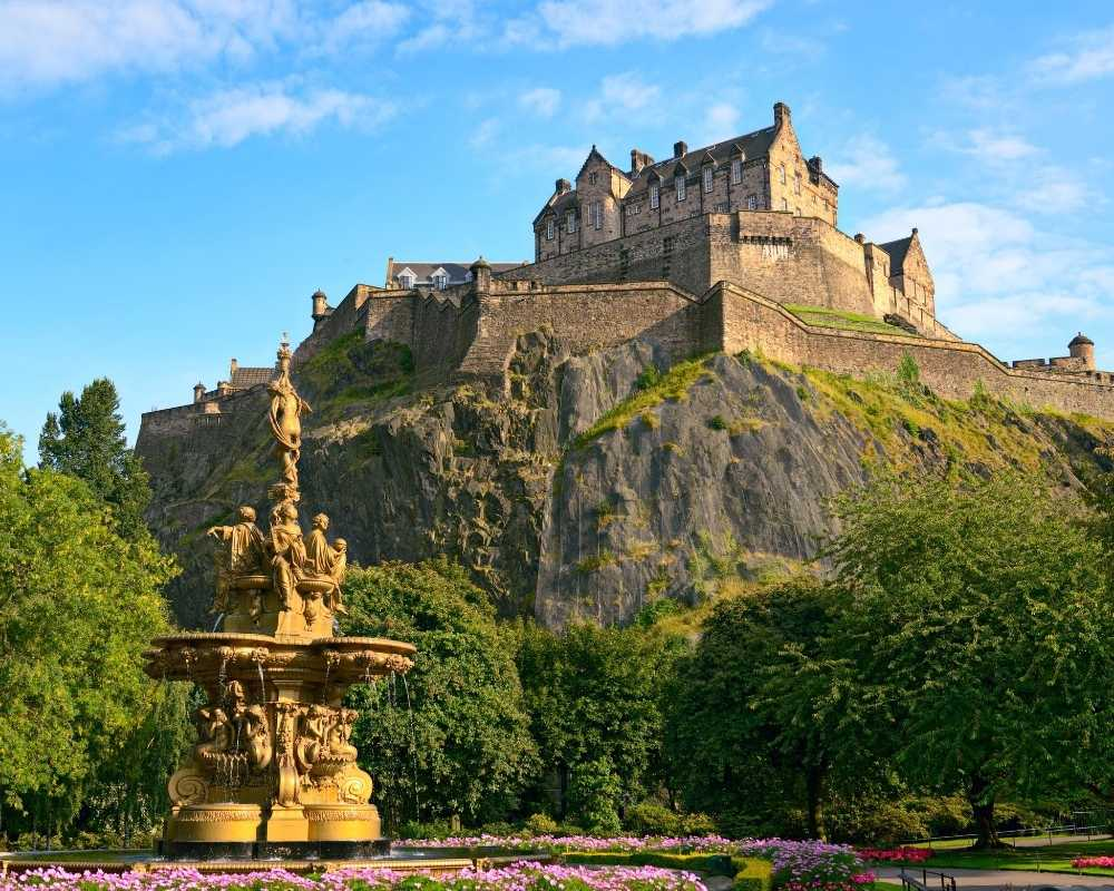 Edinburgh Castle, view from the city.