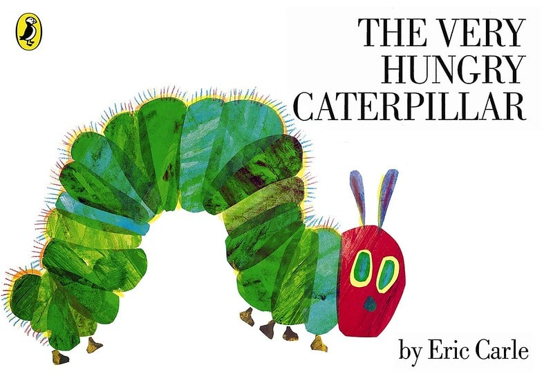 Cover of 'The Very Hungry Caterpillar' by Eric Carle.