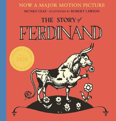 Cover of 'The Story of Ferdinand' by Munroe Leaf.