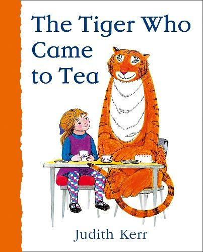 Cover of 'The Tiger Who Came to Tea' by Judith Kerr.
