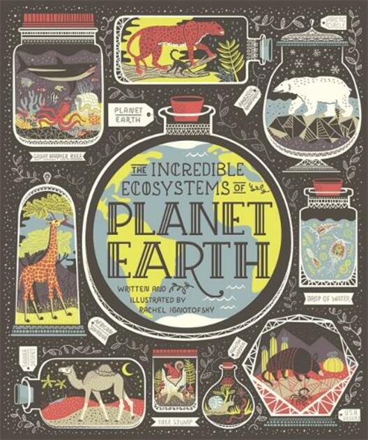 Cover of 'The Incredible Ecosystems of Planet Earth' by Rachel Ignotofsky.