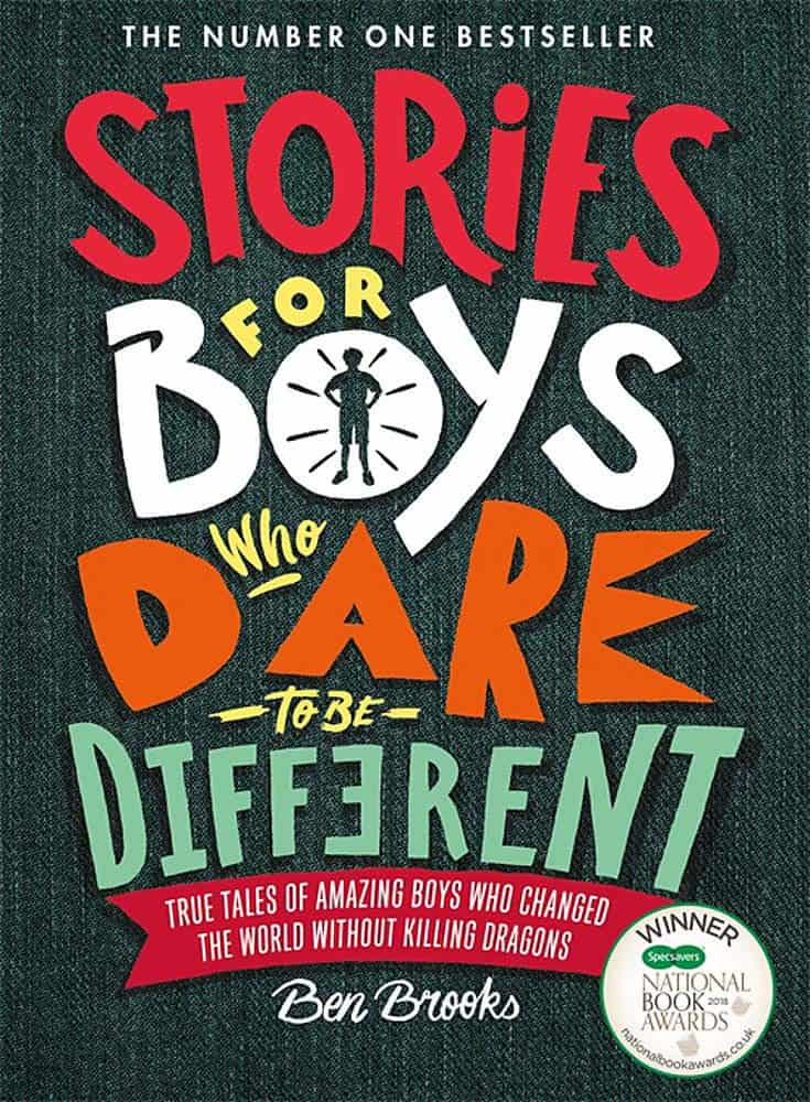 Cover of 'Storied for Boys Who Dare to be Different' by Ben Brooks.