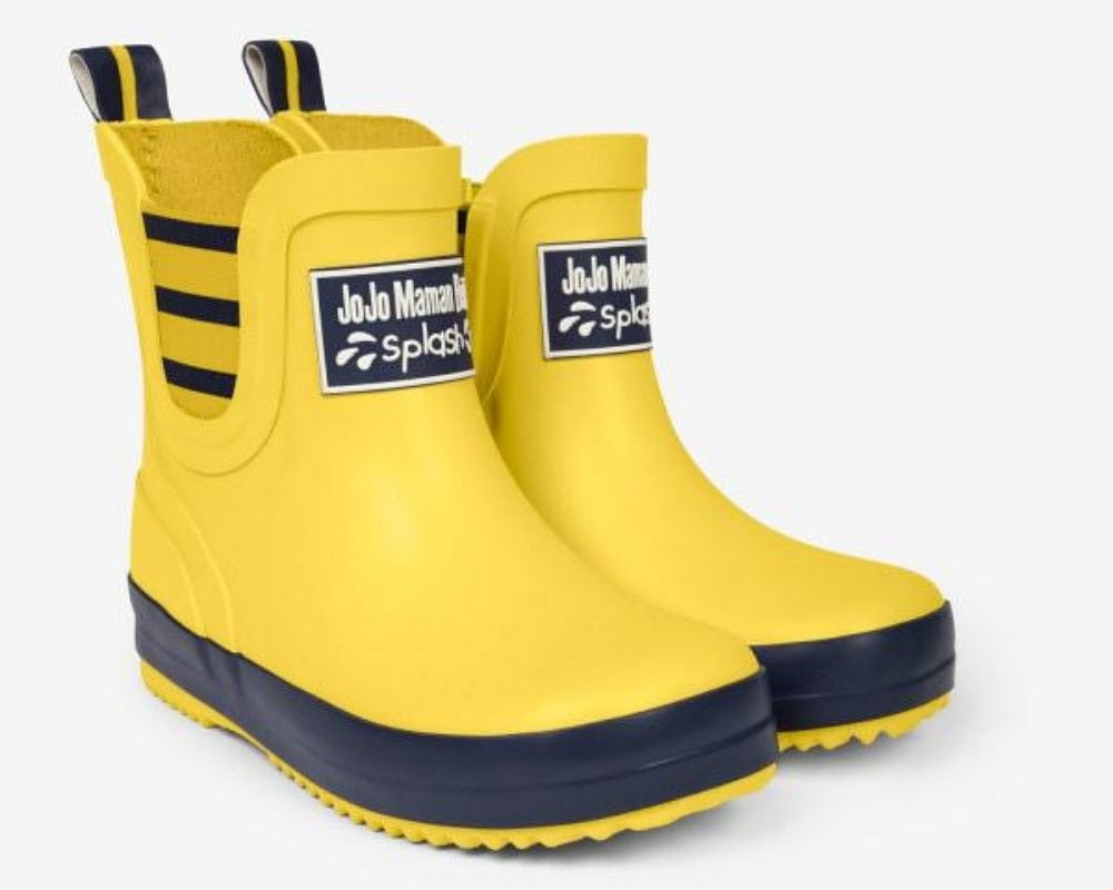 Yellow and black Jojo Maman Bebe Ankle Boots.