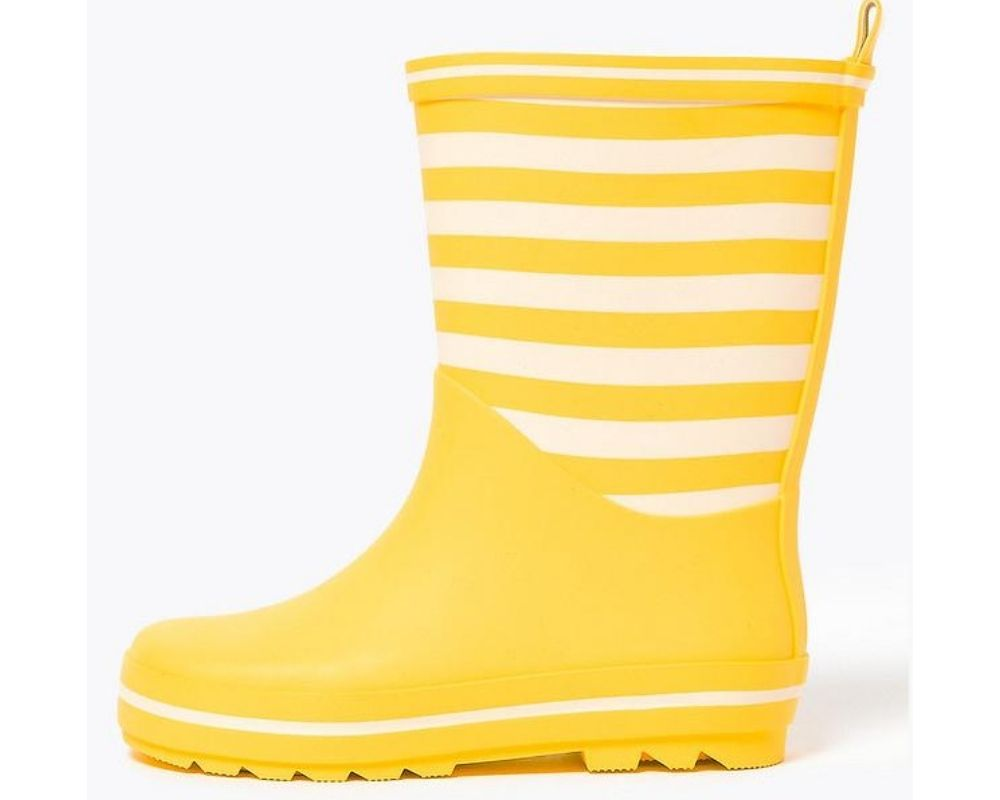 Yellow Striped Wellies for kids.