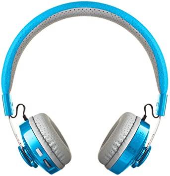 Pale blue LilGadgets headphones.