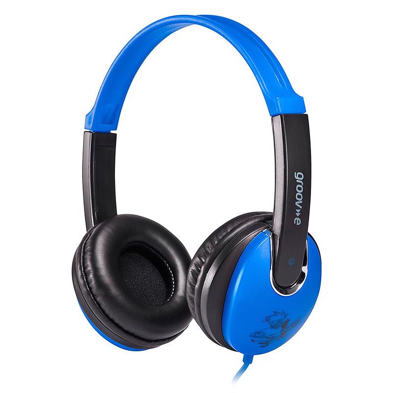 Blue and black Groov-e Kidz headphones.