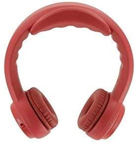 Red chunky headphones.