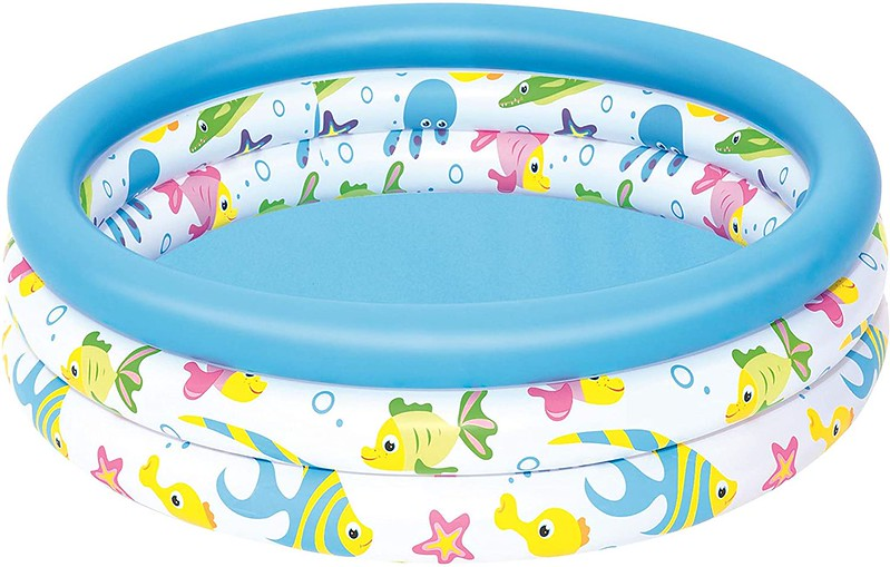 Bestway Ocean Life Pool from Amazon, with underwater-themed decorative edge.