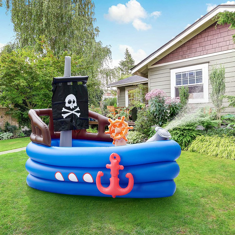 Pirate Water Play Boat in the garden