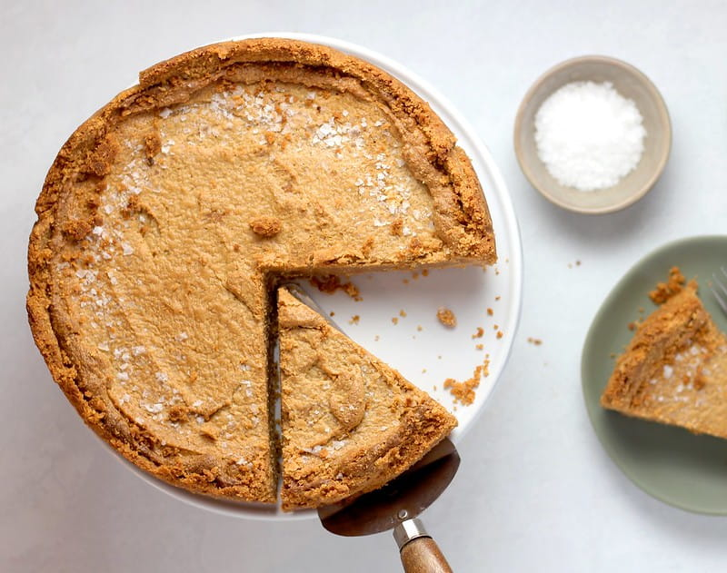 A home-baked pie with slices cut out of it as a visual example of fractions for KS2 kids.