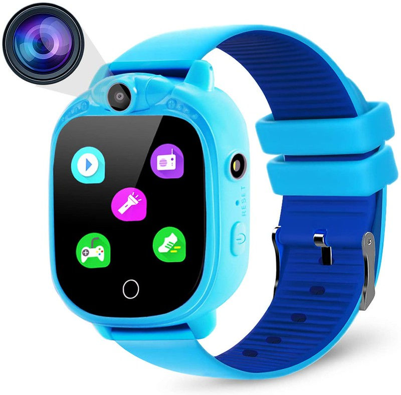 Blue Prograce Smart Watch for kids.