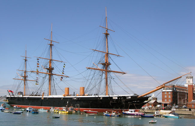 HMS Warrior in Portsmouth Historic Dockyard