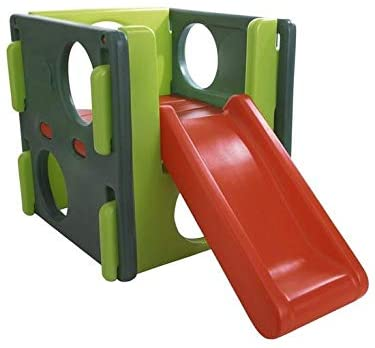 Red and green Little Tikes Junior Activity Gym.