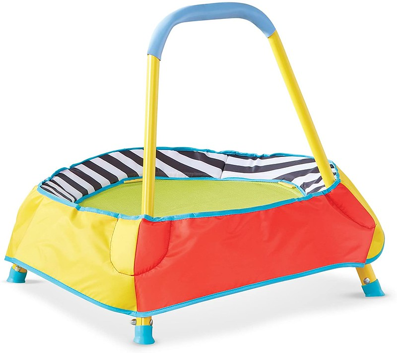 A brightly coloured Kid Active Children's Toddler Trampoline.
