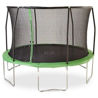 A budget-friendly B&Q Green 12ft Trampoline And Enclosure
