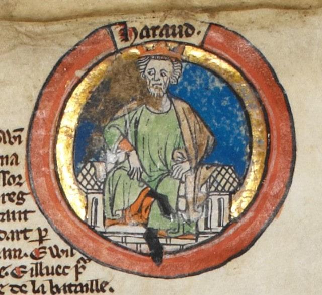 Harold Godwinson, the final Saxon King of England.