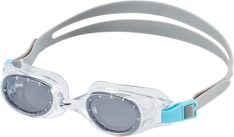 Grey Speedo Hydrospex Swimming Googles from Amazon.