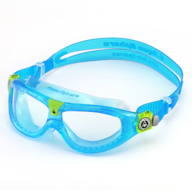 Blue Aqua Sphere Seal Kids 2.0 Goggles.