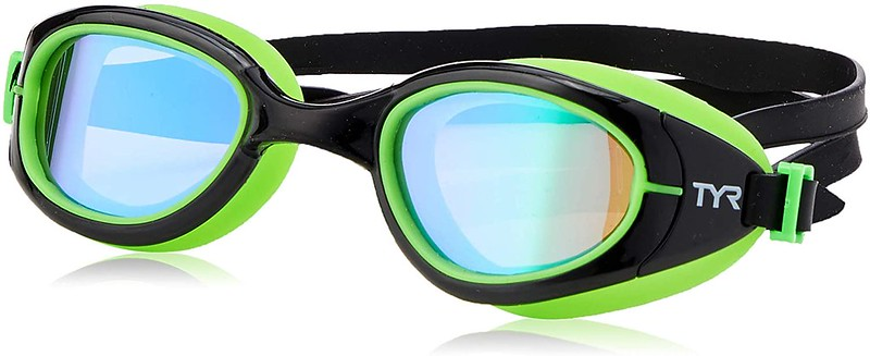 The YR Specialised 2.0 Polarised Goggles in black and green with polarised lenses.
