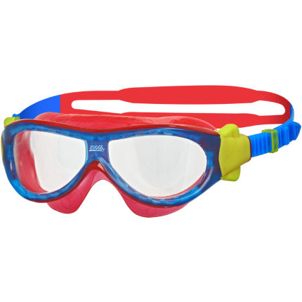 Brightly coloured red, yellow and blue Zoggs Kids Phantom Goggles.