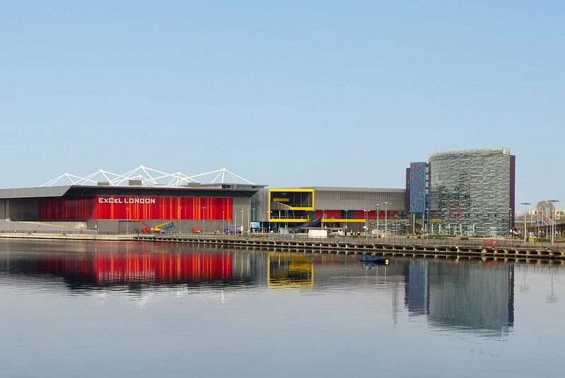 The ExCeL London site on the River Thames.