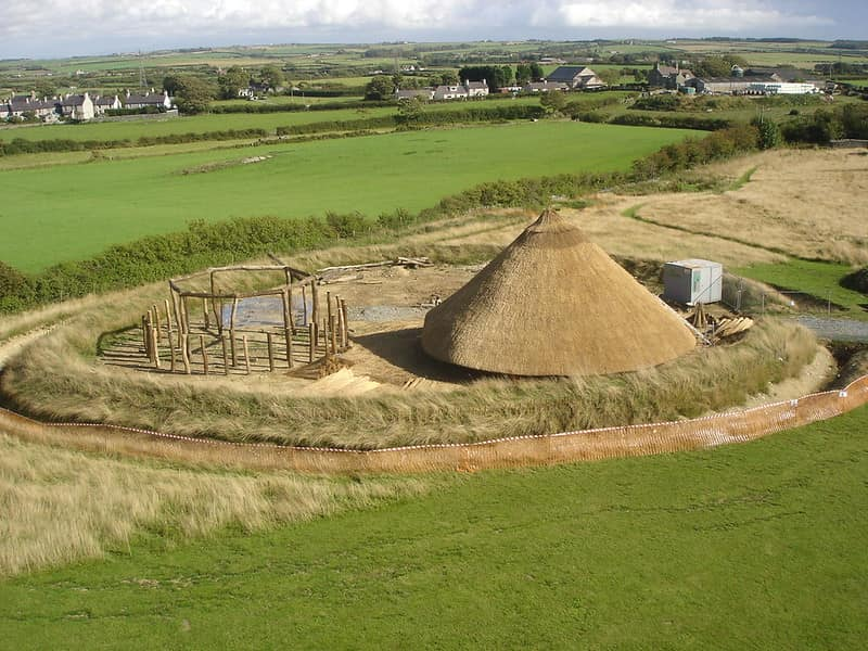 Celtic roundhouse from the Iron Age.