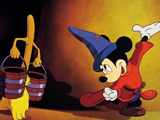 Mickey Mouse in Disney's Fantasia with a mop.