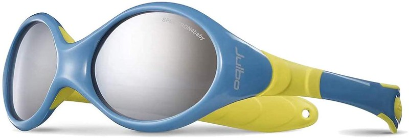 Blue and yellow Julbo Looping III Kids Sunglasses.