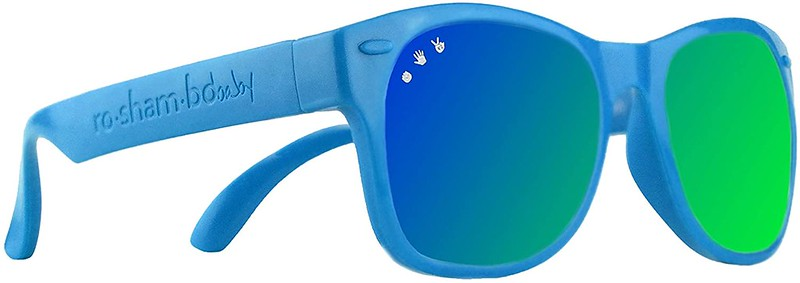 Blue Roshambo Unbreakable Kids Sunglasses.