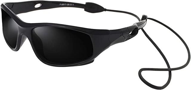 Black Vatter TR90 Unbreakable Sports Sunglasses.
