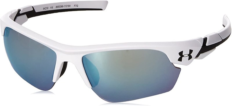 White Under Armour Unisex Kids Sunglasses.