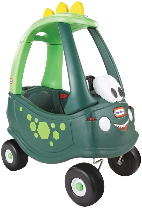 Green Little Tikes Cosy Coupe.