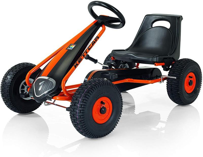 Black and orange Suzuka Air Pedal Kart.