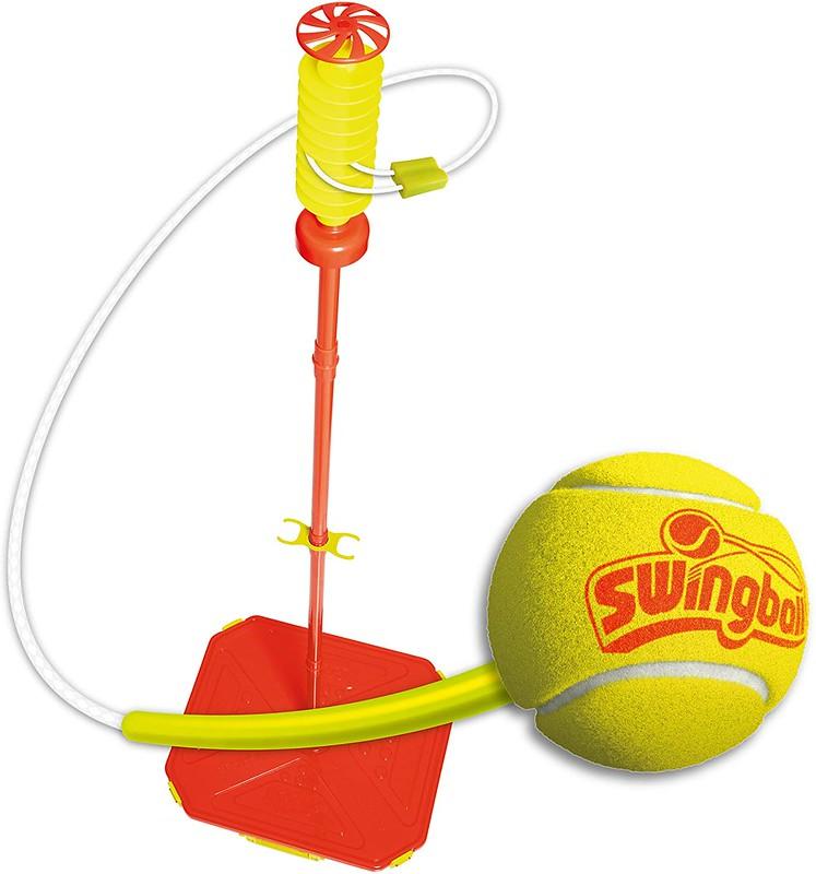 Red and yellow Swingball set.