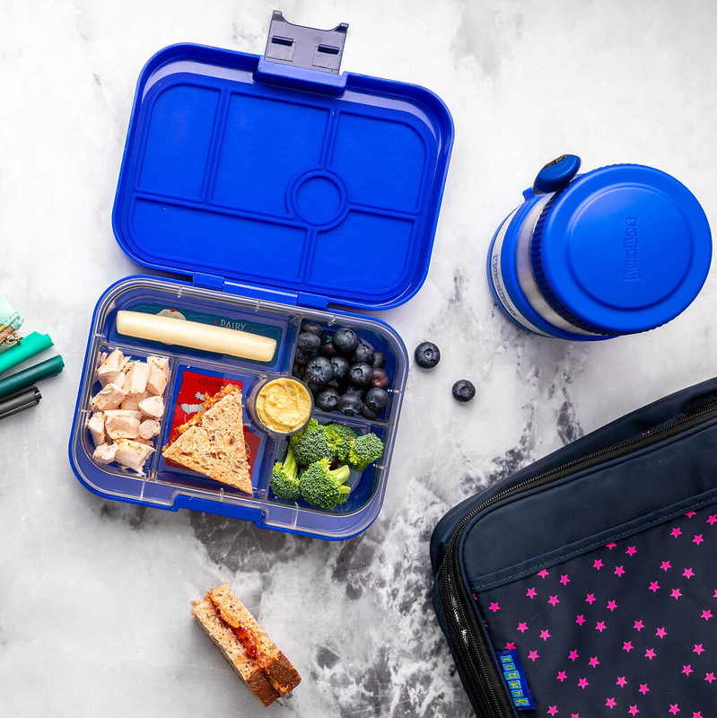 Blue Yumbox Classic Lunch Box.