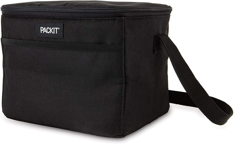 Black PackIt Freezable Lunch Bag.