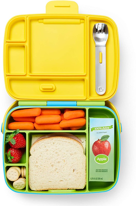 Brightly coloured Munchkin Bento Toddler Lunchbox.