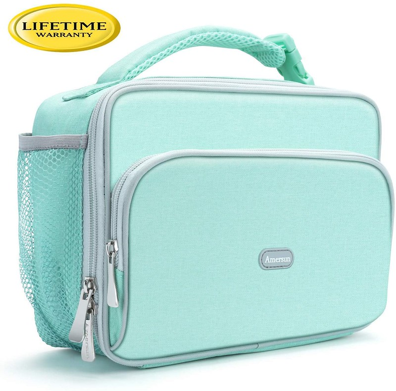 Pale green LL Bean Insulated Lunch Bag.