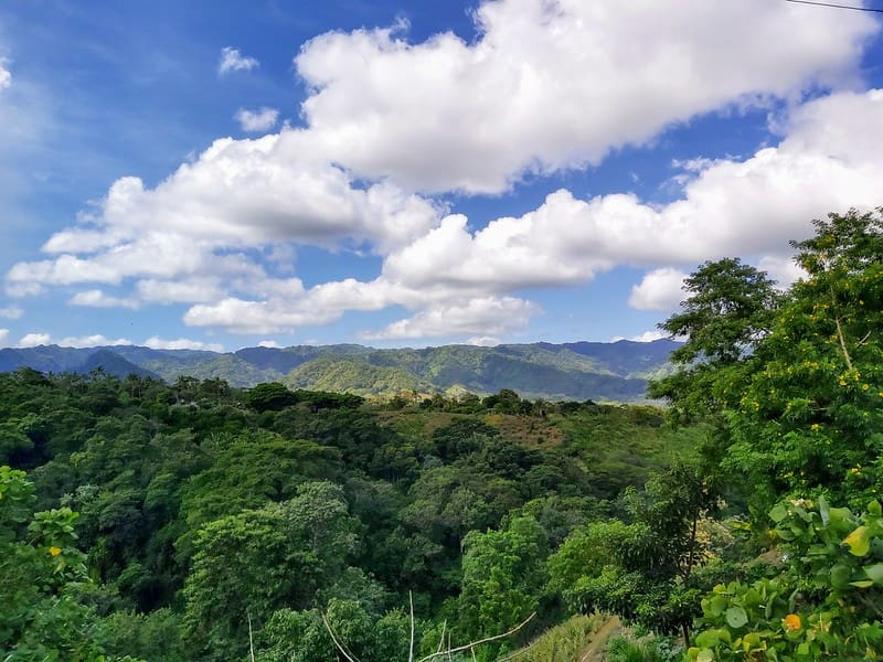 View over the mountains and rainforest in Nicaragua.