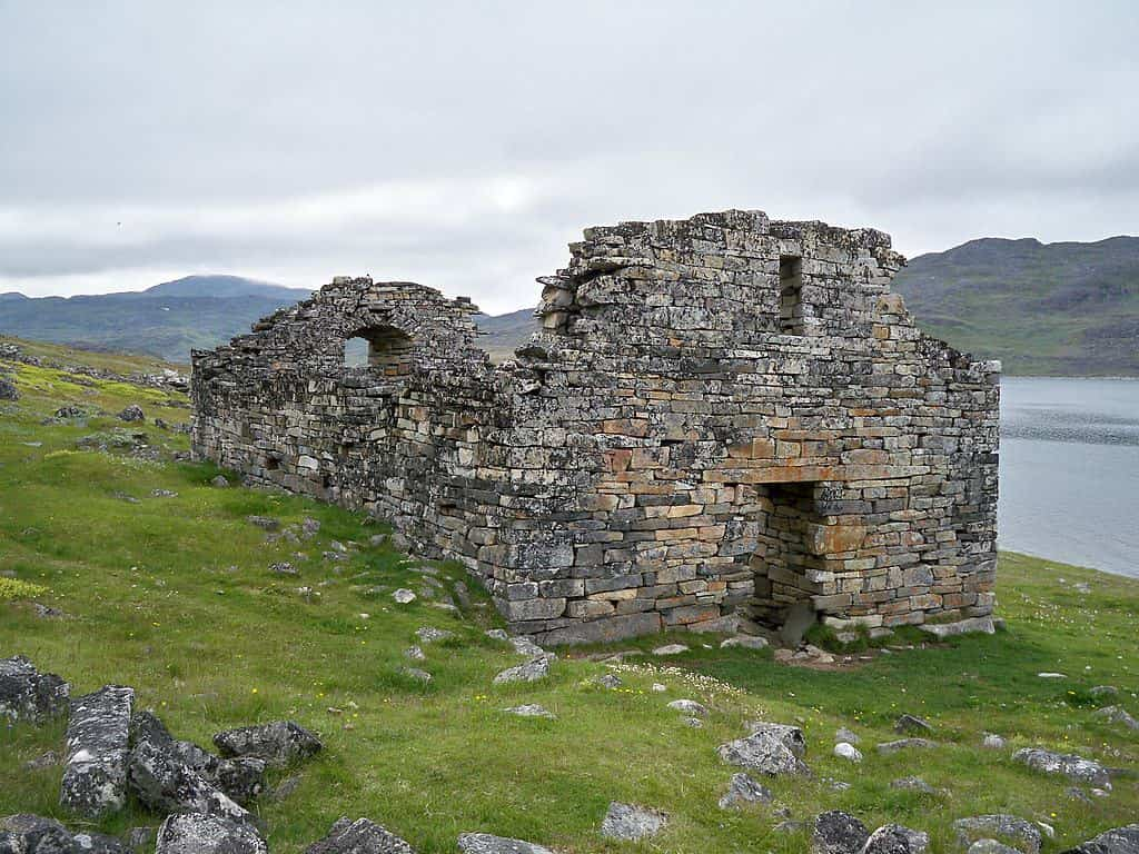 The remains of the historic Hvalsey church in Greenland.