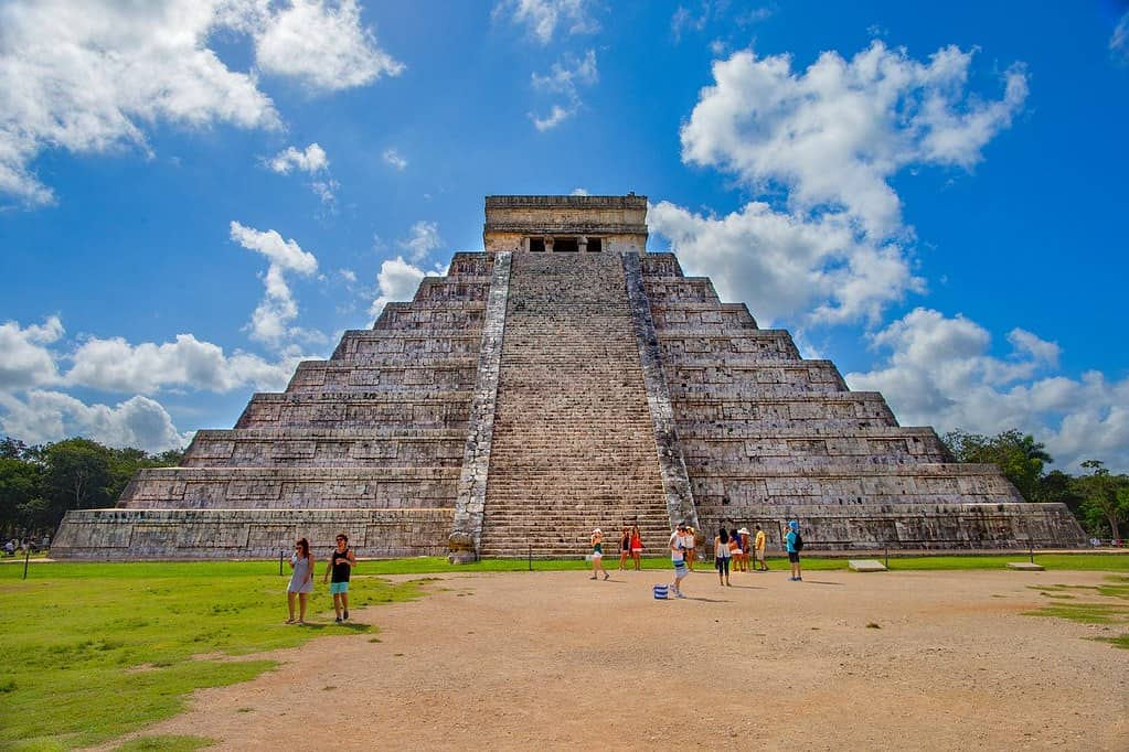 The iconic castillo pyramid at Chichen Itza.