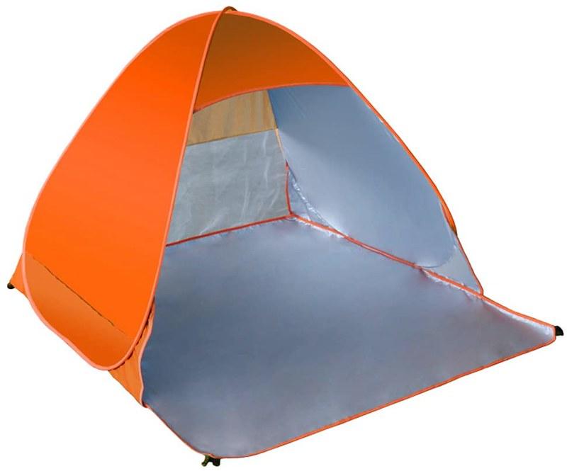 An orange Portable Cabana Family Beach Tent.