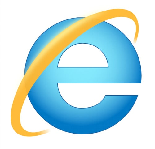 The Internet Explorer icon for the computer.
