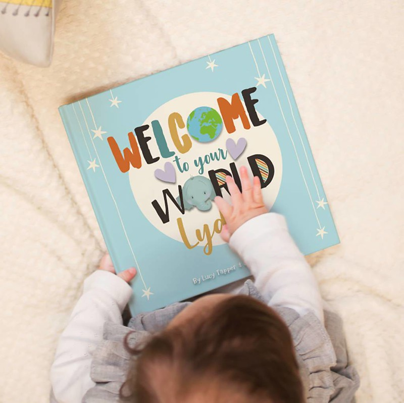 A 'Welcome To The World' Personalised Book.