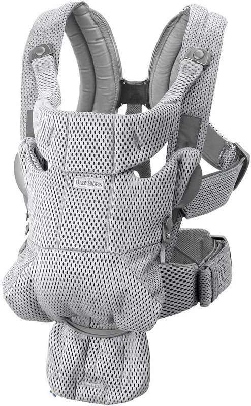 A Baby Bjorn Baby Carrier.