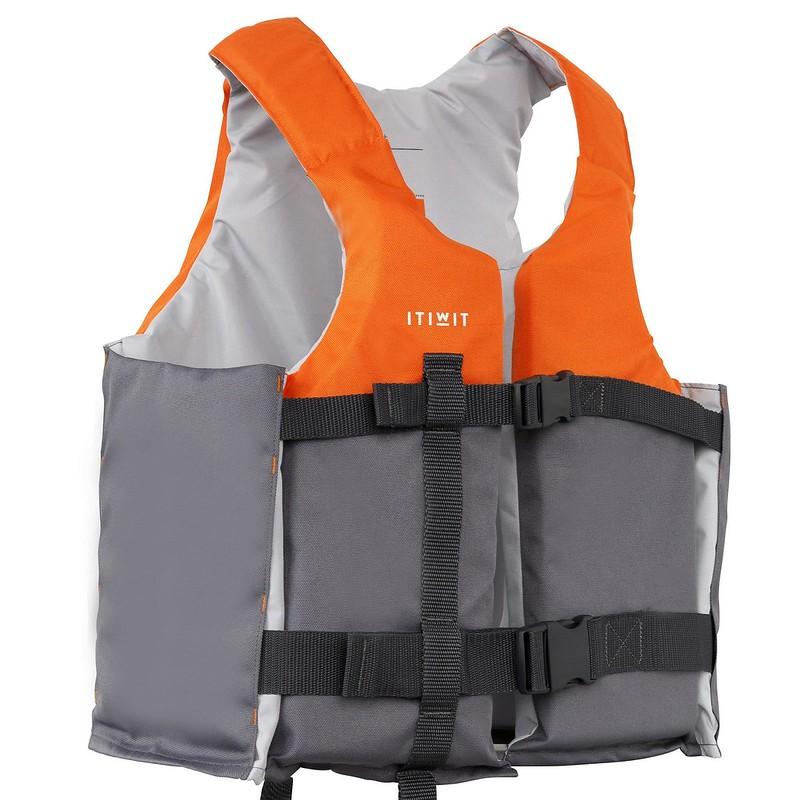 Orange ITWIT Decathlon Buoyancy Aid.